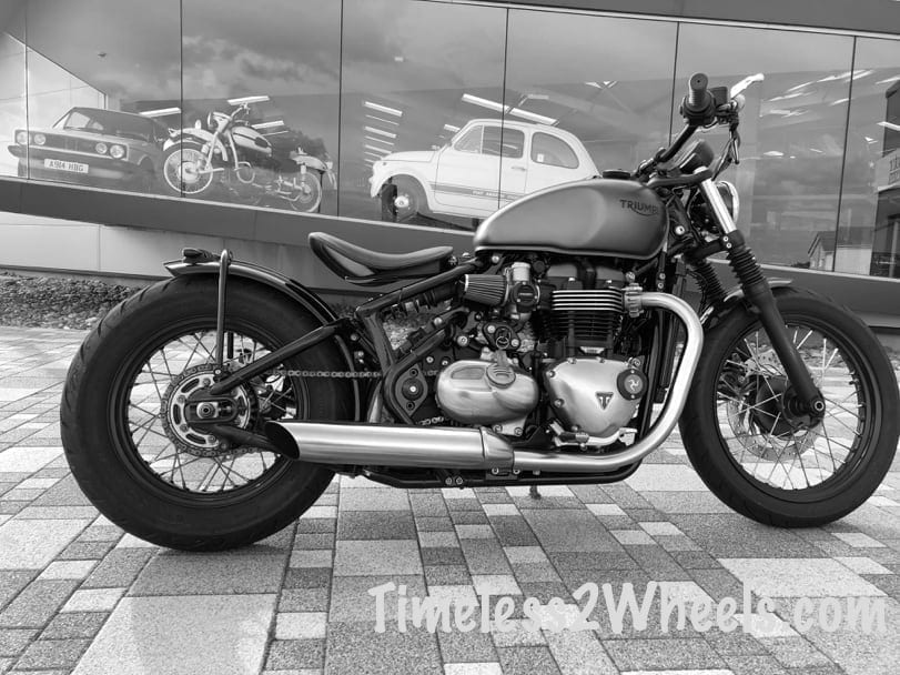 Bonneville Bobber at the Manx Motor Museum