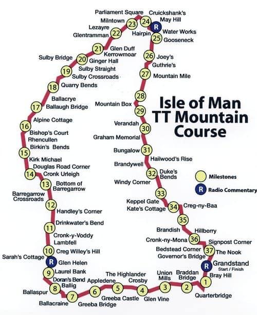 The Isle of Man TT course