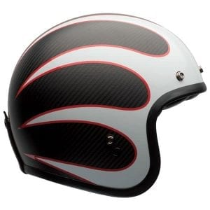 Carbon fibre Deluxe Ace Cafe Bell Custom 500 retro helmet