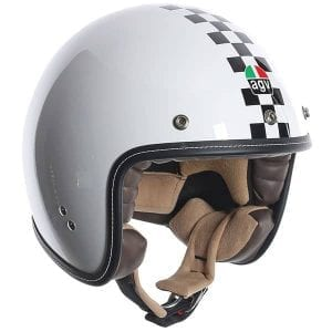 AGV RP60 Checkered flag retro helmet
