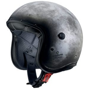 The Caberg Freeride retro helmet in Iron colour scheme