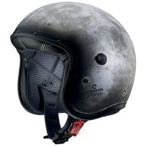 The Caberg Freeride retro helmet in Iron colour scheme