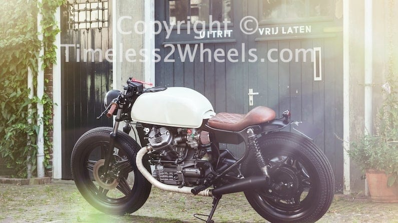 a BMW converted into a cafe racer