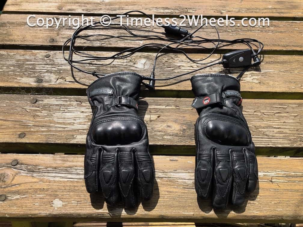 Gerbing heated gloves showing all wiring