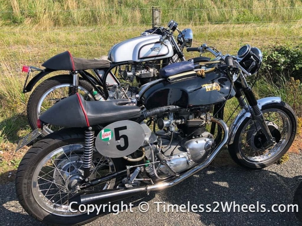a pair of Titon motorcycles