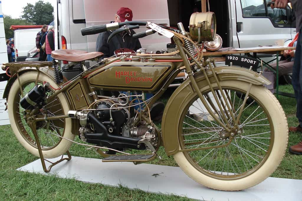 Harley Davidson Sport Twin was another fine example of a 1920's motorcycle