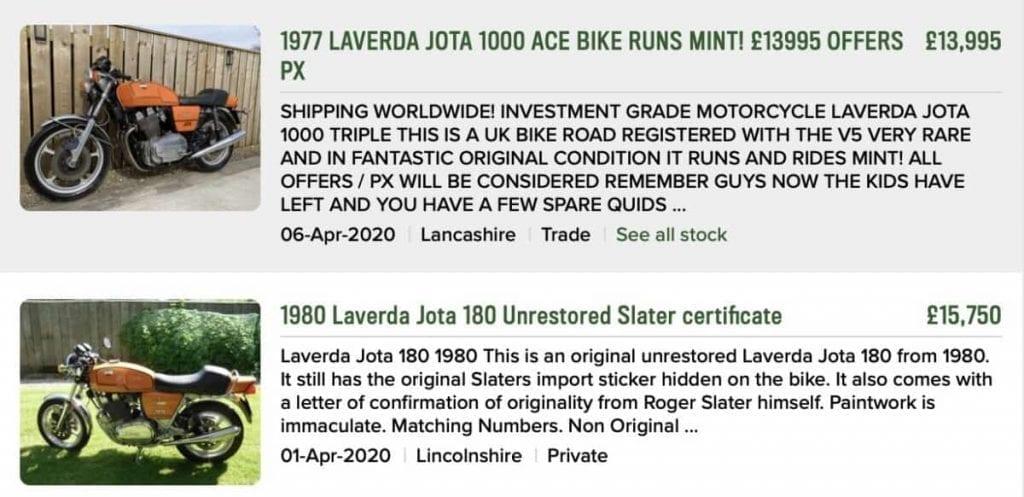 Laverda Jota 180 for sale