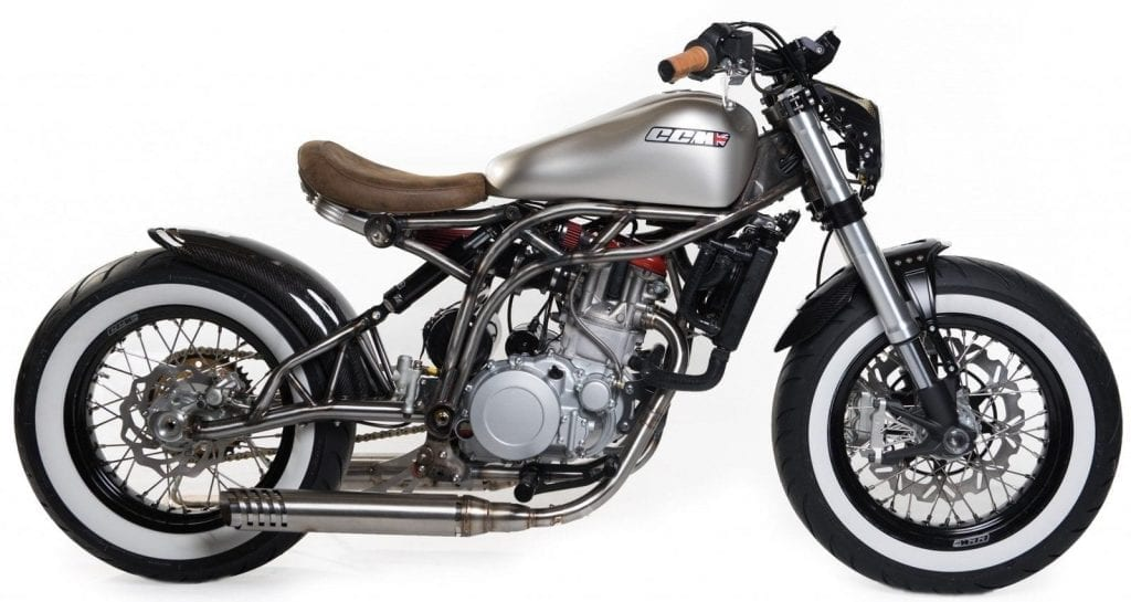 The CCM Spitfire has been given the Bobber bike treatment