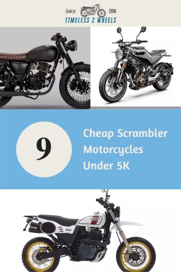 9 Cheap Scrambler Motorcycles Under 5K