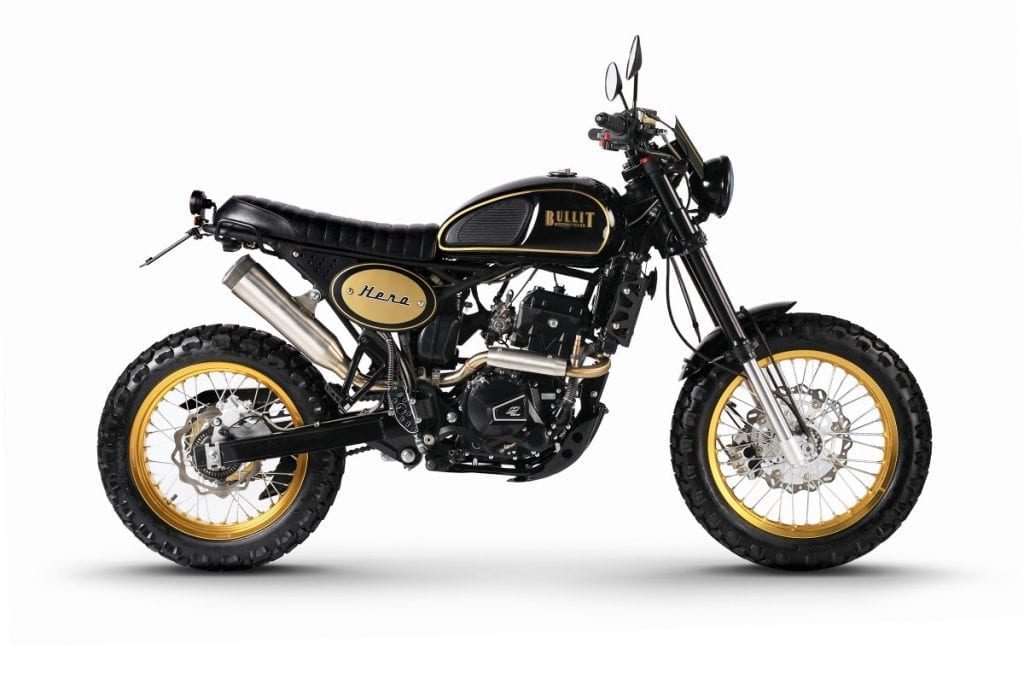 Bullit Hero 250 is a cheap Scrambler motorcycle costing less than 4 grand