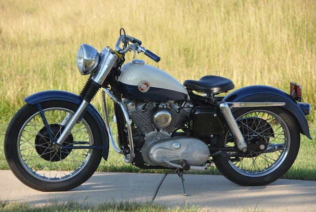 1950s motorcycle the Harley Davidson Sportster