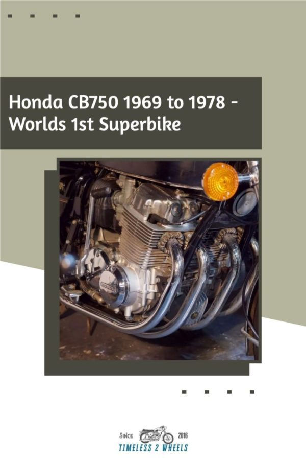 Honda CB750 1969 to 1978 - The Original UJM