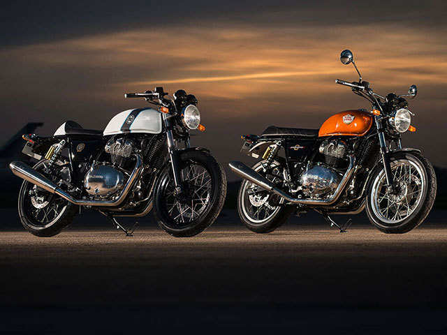 Royal Enfield produce 2 cheap retro motorcycles, the Interceptor and the Continental GT 650