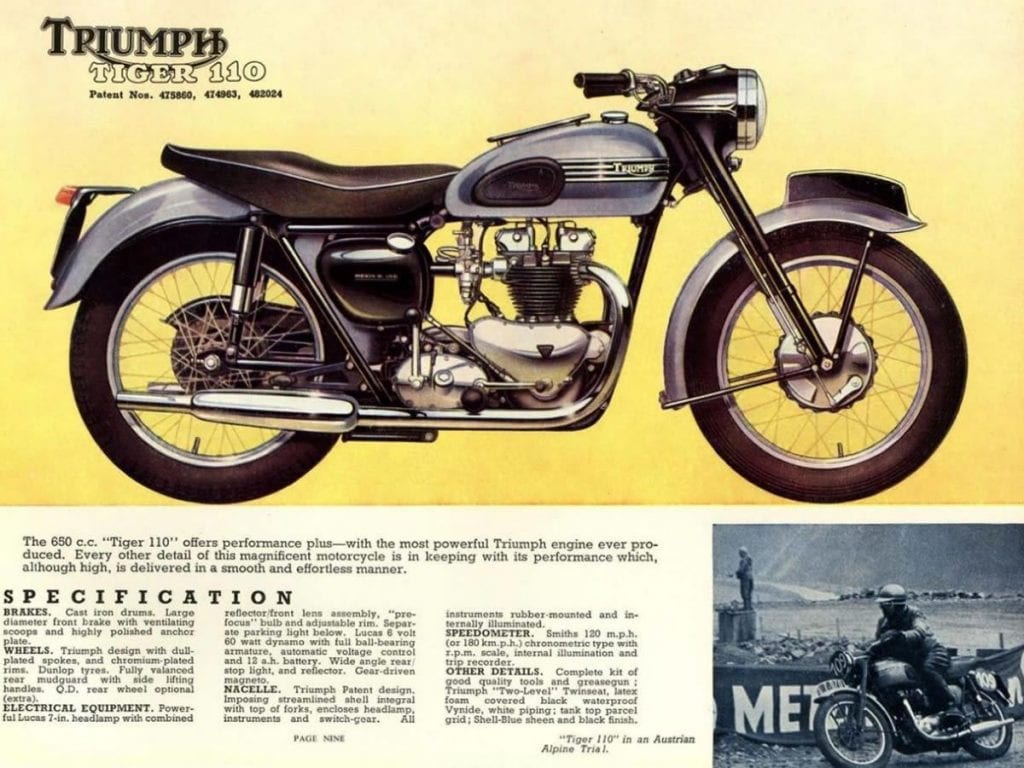 The Tiger T110 set the standard for early 1950s motorcycles