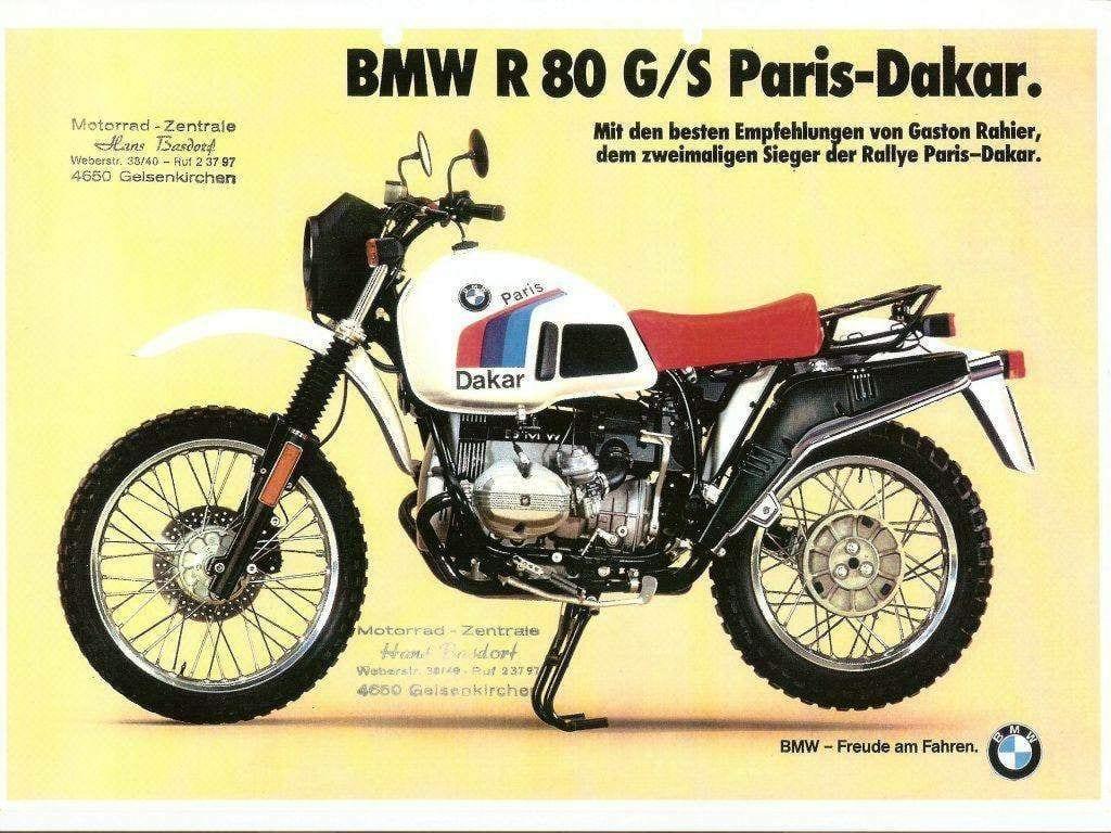 A original BMW R80 GS Dakar special advert