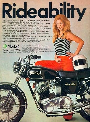 Norton Commando 750 advertising