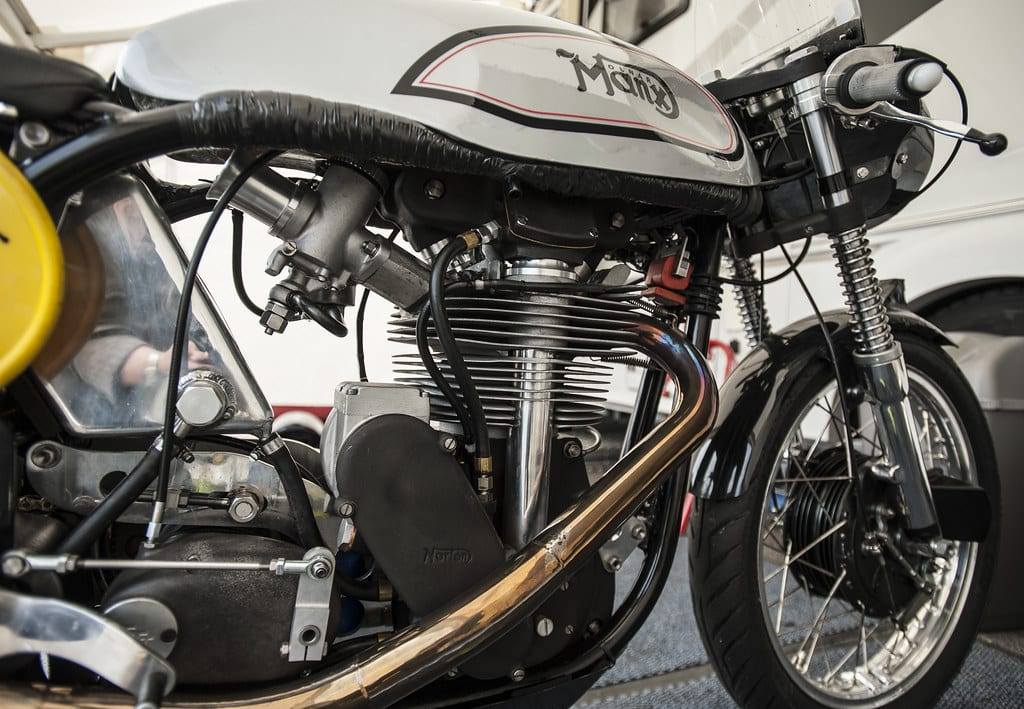 The Manx Norton is a popular choice for Vintage racers