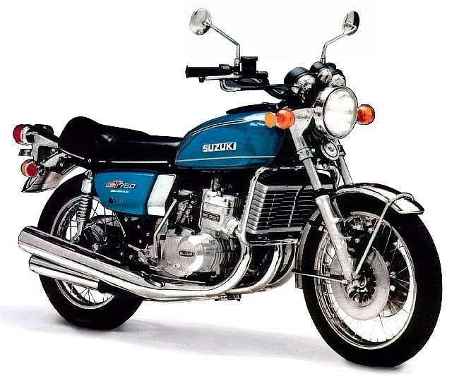 Suzuki GT750 in blue