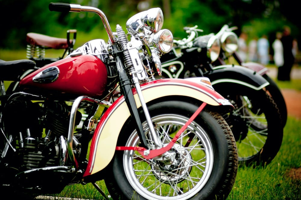 Classic motorcycles on show