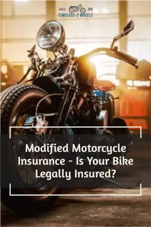 Modified Motorcycle Insurance - Is Your Bike Legal?