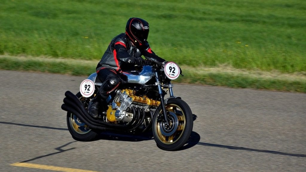 Honda CBX 1000 at the track