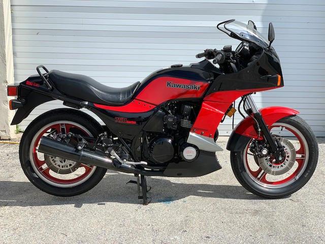 a 1985 Kawasaki GPz750 Turbo