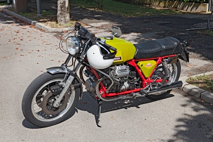 Only 150 of the red frame Moto Guzzi V7 Sport were produced