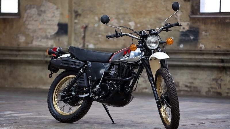 The first yamaha 4 stroke dirt bike and considered the father of adventure motorcycles