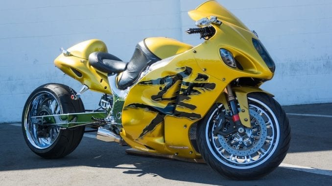 1st edition Suzuki Hayabusa were popular with custom bike builders