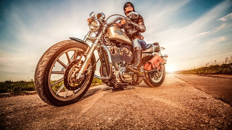 Harley Davidson Sportster 883 is one of the most popular motorcycles for women in America