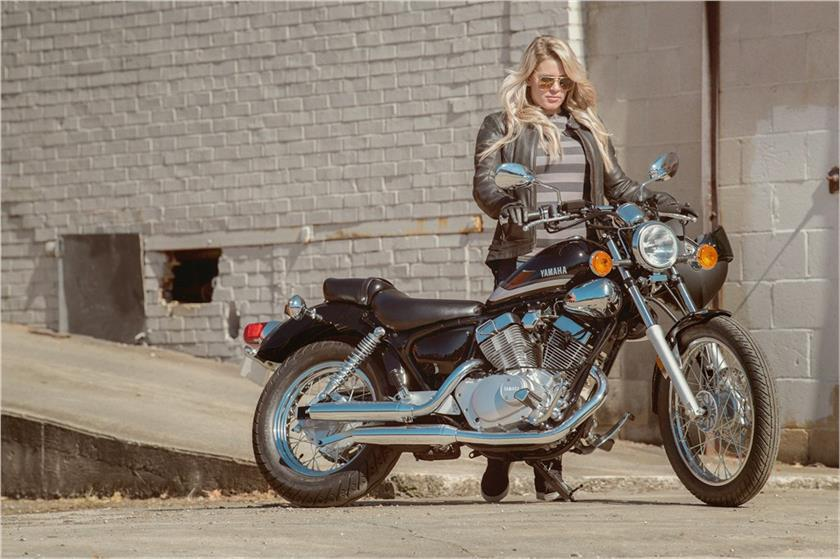 The Yamaha V Star 250 is marketed at female riders