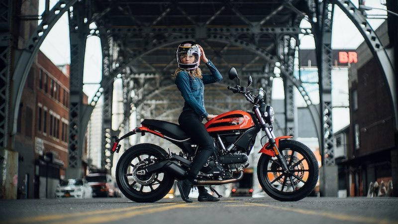 The Scrambler Sixty2 is proving popular with female riders