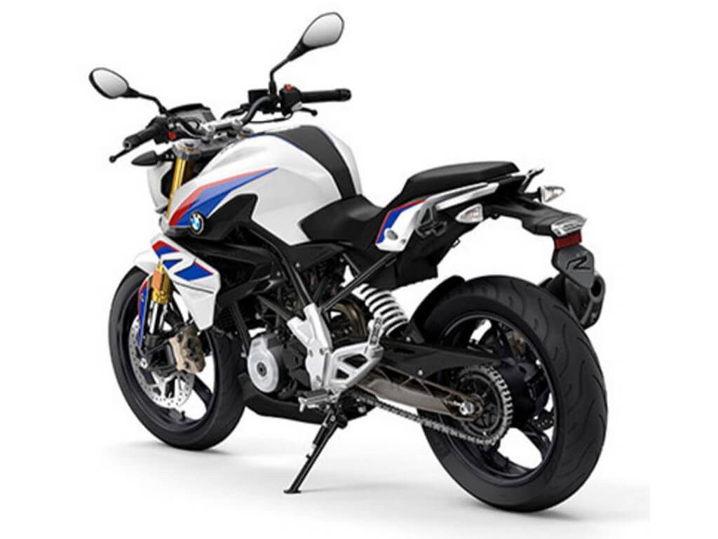BMW G 310 R in red white and blue