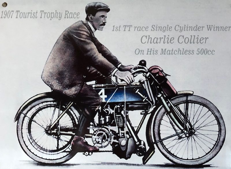 Charlie Collier winning the first Isle of Man TT in 1907