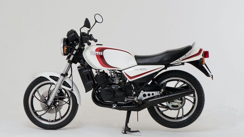 Yamaha RD250LC is a 2 stroke icon of the early 1980's