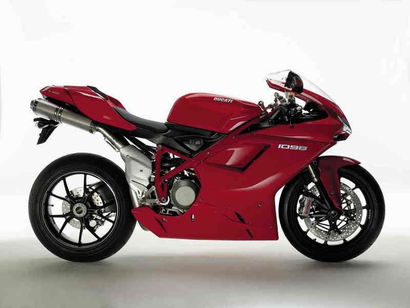 Ducati 1098 with its unmistakable silhouette