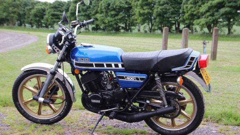 Yamaha RD400 was the first production motorcycle to feature cast wheels