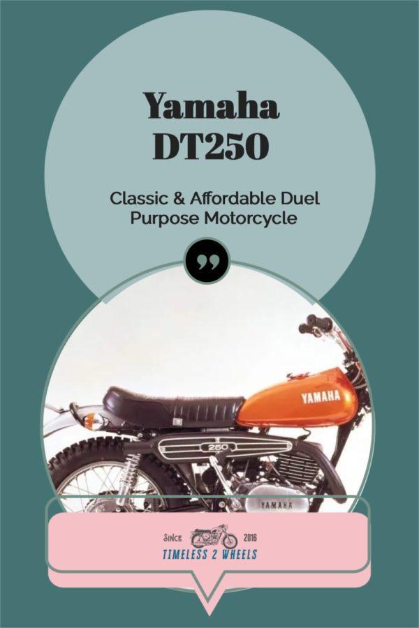 Yamaha DT250 Duel Sports Bike 1971 to 1982